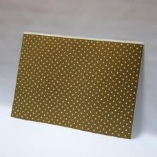 Лист дизайнерского картона 500 х 700 мм, мелованный с печатью «Gold Stars»