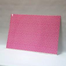 Лист дизайнерского картона 500 х 700 мм, мелованный с печатью «Pink hearts»