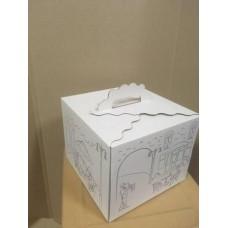 Коробка подарочная 250 х 250 х 200 мм, самосборная крышка+дно