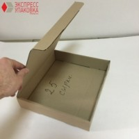 Коробка картонная 300 * 275 * 55 мм, самосборная