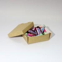 Коробка для еды 130 х 100 х 50 мм, крышка+дно