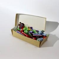 Коробка для еды 210 х 110 х 50 мм, крышка+дно
