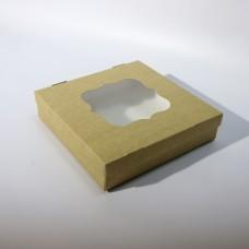 Коробка для еды 210 х 210 х 50 мм, крышка+дно с окном