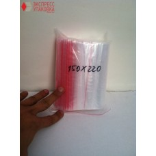 Пакеты с замком Zip-Lock 150 мм х 220 мм в упаковке (100 шт)