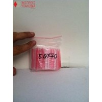 Пакеты с замком Zip-Lock 50 мм х 70 мм в упаковке (100 шт)