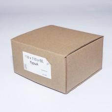 Коробка картонная 110 х 110 х 60 мм, самосборная