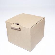 Коробка картонная 130 х 130 х 105 мм, самосборная
