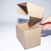 Коробка картонная 160 х 120 х 120 мм, самосборная