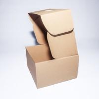 Коробка картонная 205 х 205 х 125 мм, самосборная