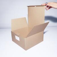 Коробка картонная 220 х 220 х 105 мм, самосборная
