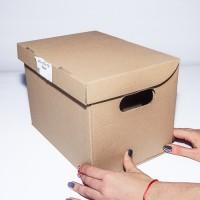 Коробка картонная 260 х 190 х 190 мм, архивная