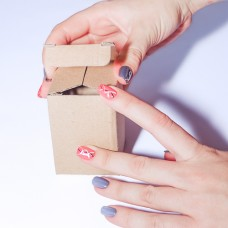 Коробка картонная 50 х 50 х 75 мм, самосборная