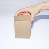 Коробка картонная 75 х 75 х 95 мм, самосборная