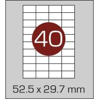 Этикетки самоклеящиеся 52.5 мм х 29.7 мм