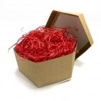 Наполнитель для коробок 100 г, древесный красный