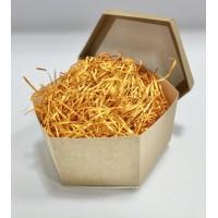 Наполнитель для коробок 100 г, древесный оранжевый