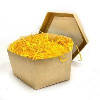 Наполнитель для коробок 100 г, древесный желтый