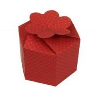 Коробка подарочная шестиугольная 180 х 180 х 140 мм, самосборная