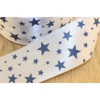 Лента декоративная «Звезды» 25 мм, атласная