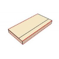 Коробка подарочная 157 х 77 х 15 мм, самосборный конверт