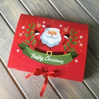 Коробка подарочная 250 х 200 х 50 мм «Happy Christmas», самосборная