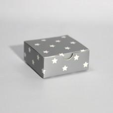 Коробка подарочная 70 х 70 х 30 мм «Silver Stars», самосборная
