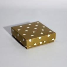 Коробка подарочная 90 х 90 х 25 мм «Gold Stars», крышка+дно