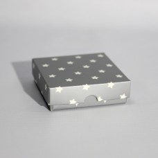 Коробка подарочная 90 х 90 х 25 мм «Silver Stars», крышка+дно