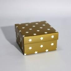 Коробка подарочная 90 х 90 х 50 мм «Gold Stars», крышка+дно