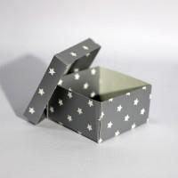 Коробка подарочная 90 х 90 х 50 мм «Silver Stars», крышка+дно