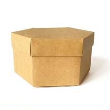 Коробка подарочная шестиугольная 170 х 170 х 100 мм, крышка+дно