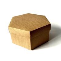 Коробка подарочная шестиугольная 200 х 200 х 101 мм, крышка+дно