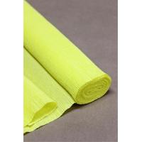 Креповая бумага (Италия), 2.5 м х 50 см, желтая
