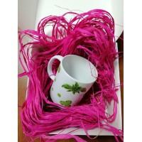 Рафия натуральная 50 г, розовая