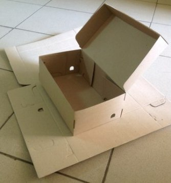 Самосборная коробка под мужские и женские туфли