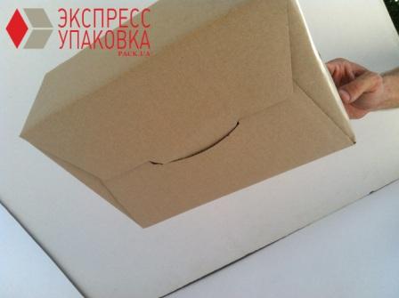 Картонная коробка с нестандартной формой клапанов