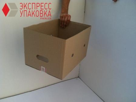 Складская коробка с боковыми ручками