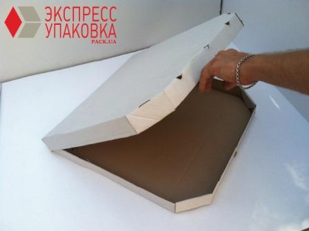 Картонная коробка для пиццы необычной формы