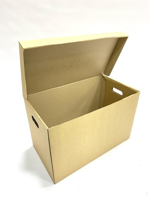 Большая коробка с ручками и крышкой для склада