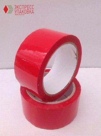 Скотч-пленка красного цвета 66 метров рулон дешево