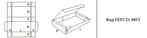 FEFCO 0413: Виды и типы картонных коробок