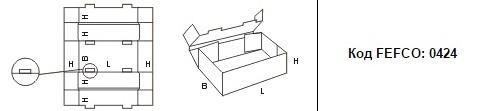 FEFCO 0424: Виды и типы картонных коробок