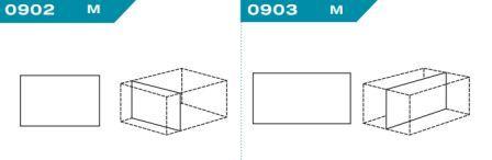 FEFCO 0902-0903: Виды и типы вставок, решеток и вкладышей для картонных коробок