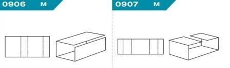 FEFCO 0906-0907: Виды и типы вставок, решеток и вкладышей для картонных коробок