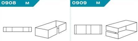 FEFCO 0908-0909: Виды и типы вставок, решеток и вкладышей для картонных коробок