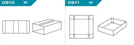 FEFCO 0910-0911: Виды и типы вставок, решеток и вкладышей для картонных коробок