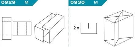 FEFCO 0929-0930: Виды и типы вставок, решеток и вкладышей для картонных коробок