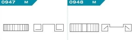 FEFCO 0947-0948: Виды и типы вставок, решеток и вкладышей для картонных коробок