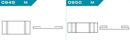 FEFCO 0949-0950: Виды и типы вставок, решеток и вкладышей для картонных коробок
