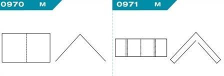 FEFCO 0970-0971: Виды и типы вставок, решеток и вкладышей для картонных коробок